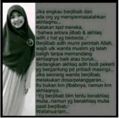 Antara akhlaq dan hijab